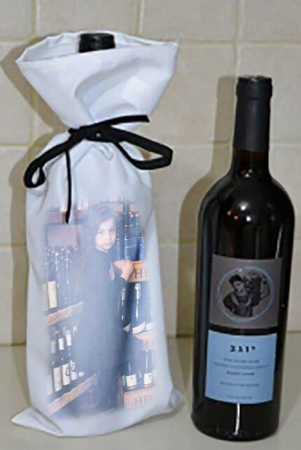 כיסוי בד לבקבוק יין