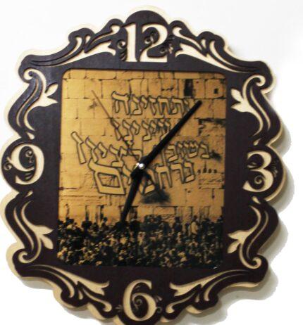 שעון מיוחד 2 שכבות עץ מודפסים מעוטרים S